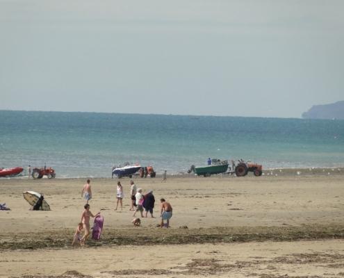 La plage de Saint-Germain-sur-AY